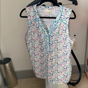 ModCloth tank with swimmer detail size L